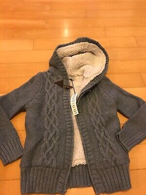 Boys Grey Marks And Spencers Cardigan With Zip Age 9-10 Brand New With Tags