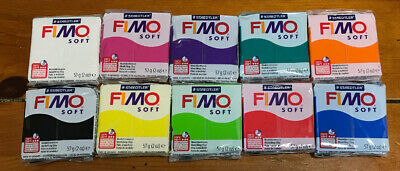 FIMO Soft Polymer Modelling Clay Starter Set of 10x 57g Clays Assorted Colours