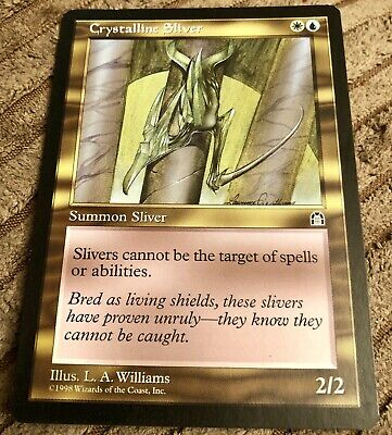Crystalline Sliver MTG Stronghold Near Mint Uncommon Multicoloured Magic Card 1x