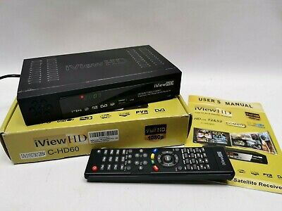 iVIEW HD Full HD 1080p Freeview & Satellite Recorder USB C-HD60 DVB T2 S2 Combo