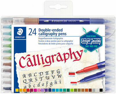 Staedtler Double Ended Calligraphy Pen - Assorted Colours (Pack of 24)