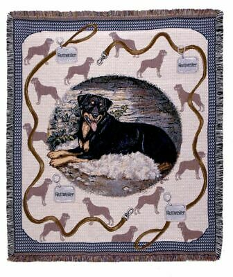 """Brand New Simply Home  Rottweiler Tapestry Throw - 50"""" x 60"""""""