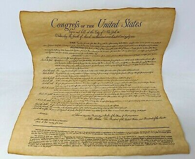 Vtg Congress of the United States 12 Articles of Amendment Constitution Replica