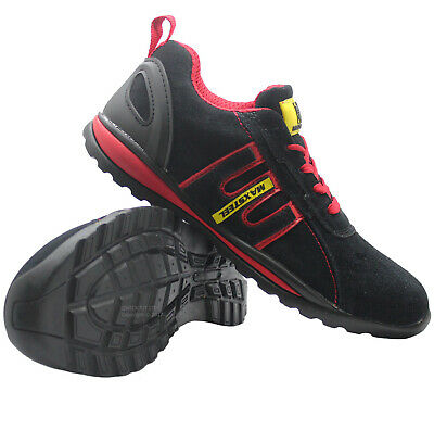Mens Leather Lightweight Steel Toe Cap Safety Work Ladies Trainers Shoes Boots