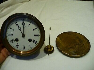"Antique French Bell Striking Complete Clock Movement ""Marti"" For Restoration"