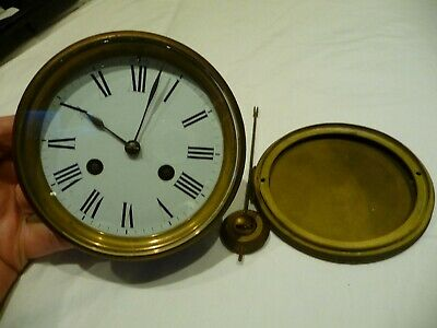 Antique French Bell Striking Complete Clock Movement R&C For Restoration Project