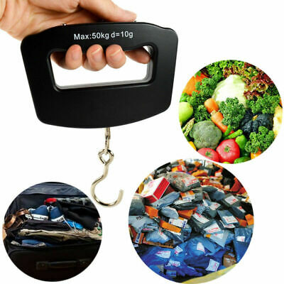 50Kg/10g Digital LCD Hanging Luggage Weight Electronic Portable Hook Scale