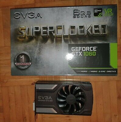 EVGA GeForce GTX 1060 6GB SC GAMING ACX 2.0 Grafikkarte. P/N: 06G-P4-6163-KR