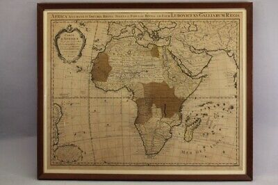 antique map of the continent of Africa / Dutch 1740's
