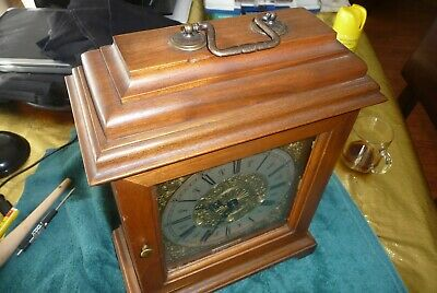 Urgos German Key Wind Mantel Chime Clock WESTMINSTER CHIME
