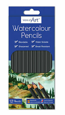 12 X Water Colour Pencil Set Artist Sketching Drawing Art Craft Painting 5146