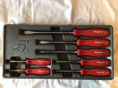 NEW Snap-On 7 Piece Combination Screwdriver Set Black SDDX70A SHIPS FREE