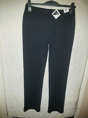 Girls Age 15 To 16 Years Black Trousers School Uniform Stretchy New With Tags