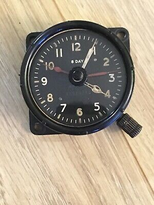 1943 WWII British RAF 8 Day Mk.II D Spitfire Cockpit Clock