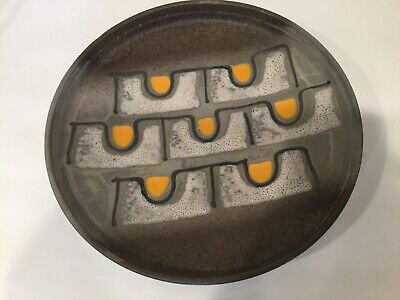 Mid Century Modern Carstens Tonnieshof W Germany Fat Lava Art Pottery Bowl  12""