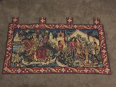 Vintage Style Hanging Tapestry Of A Medieval Scene