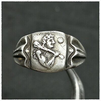""" HERCULES  ""  ancient  LEGIONARY SILVER Greek- Roman ring !!!!! 7,25 g"