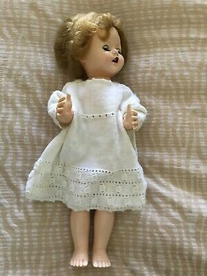 Vintage Doll Made In England Walking Doll Head Moves