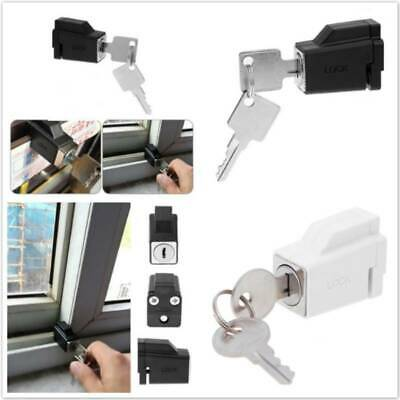 Door Window Security Lock Sliding Window Restrictor Locks Child Safety w/ 2 Keys