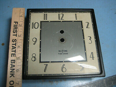 Vintage Nu Tone Clock Face, frame, Crystal, Deco Style, For Deco or Parts