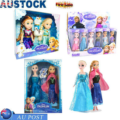 Playset Frozen Princess Elsa-Anna-Olaf Doll Figures Toy Birthday Xmas Gift Set