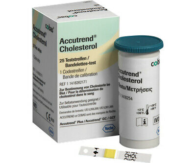 Accutrend Test Strips For Cholesterol 25 Strips - Roche
