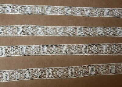 BEAUTIFUL VINTAGE ANTIQUE HANDMADE LACE TRIM 180cm x 1.5cm