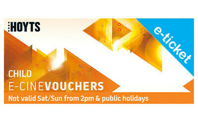 10 x Hoyts - Child e-Voucher Restricted EMAIL Delivery