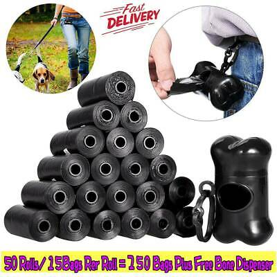 Dog Cat Poop Bags Dispensers Dog Waste Bags 50 Rolls 750 Count Biodegradable