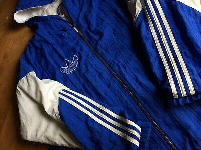Adidas FC Schalke 04 Mens Puffer Coat Jacket Football Soccer Padded Puffy Hooded
