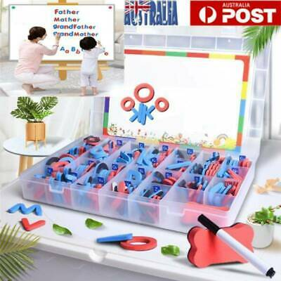 104PCS Magnetic Numbers Letters Alphabet Learning Toy Fridge Magnets Xmas Gift