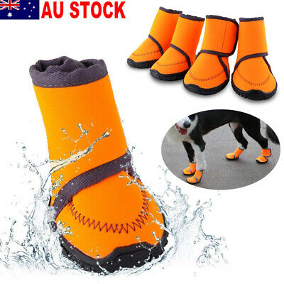 Pet Dog Puppy Warm Boots Outdoor Waterproof Anti-Slip Shoes Rain Snow Booties AU
