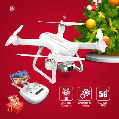 Holy Stone HS700D FPV Drone with 2K camera brushless 5G wifi RC quad selfie gift