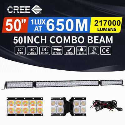 "Autofeel 50inch Cree Fold LED Light Bar Spot Flood Driving Offroad 4x4 52"" AU"