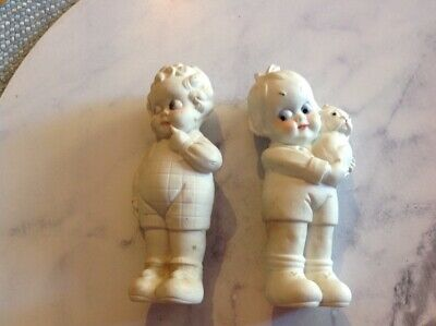 Pair of miniature antique german character bisque figurines