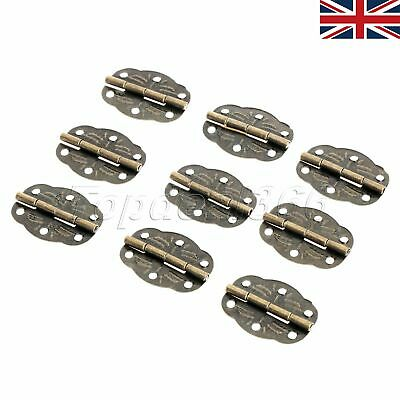 UK STOCK Vintage Bronze Desk Box Case Hinge Door Cabinet Chest Hardware 20pcs