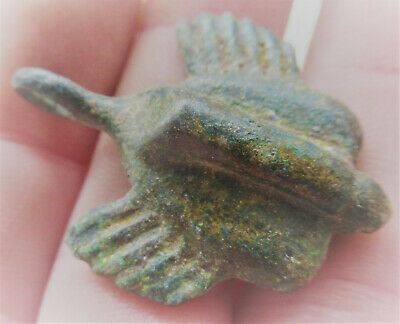 Finest Circa 100-300Ad Ancient Roman Winged Phallic Amulet Fertility Pendant