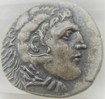 Ancient Greek Ar Silver Tetradrachm Coin Of Alexander The Great Vf