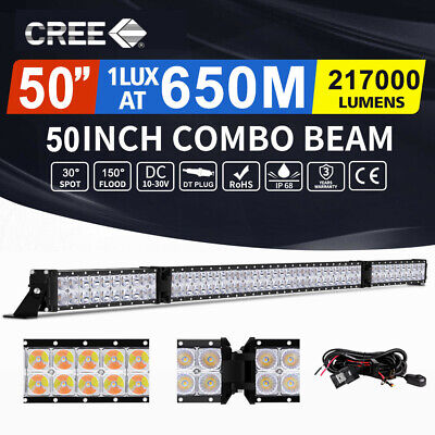 "Autofeel 50inch Cree Folding LED Light Bar Spot Flood Driving Offroad 4x4 52"" AU"