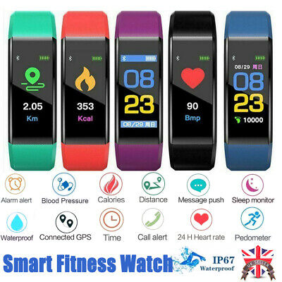 Fitness Smart calories Watch Band Sport GPS Tracker For Kid Adult Android iOS UK