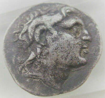 Ancient Greek Ar Silver Tetradrachm Coin Ptolemy