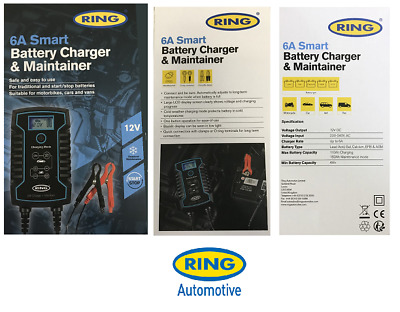 Ring Automotive 6A Smart Battery Charger & Maintainer