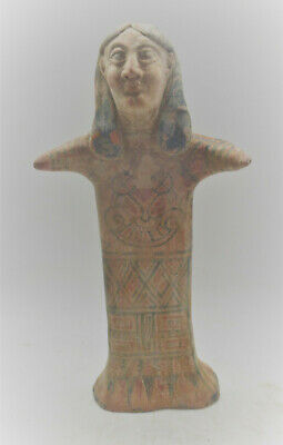 Scarce Circa 1000Bce Ancient Near Eastern Clay Worshipper Statuette Superb