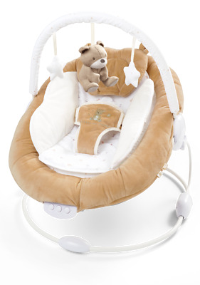 Soft Padded Little Teddy Baby Bouncer With Soothing Music Vibration and Toys 078