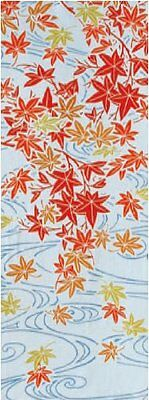 Japanese traditional towel TENUGUI MAPLE  COTTON MADE IN JAPAN