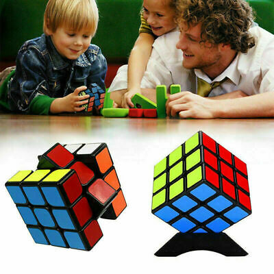 Kids Fun Toy Original Rubiks Cube Rubix Magic Rubic Mind Game Classic Puzzle UK