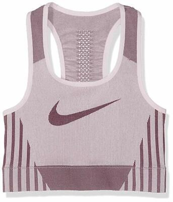 Nike Official Girl's Fenom Seamless Sports Training Bra Top Purple Age 14-15