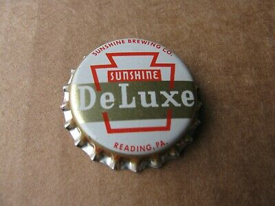 Unused Sunshine Brewing Co Deluxe Beer Cork Era Beer Cap Reading Pennsylvania