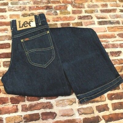 Vintage NOS Lee Jeans Boy's 14 Slim W 25 L 29 90s Blue Denim Rider Boot Cut