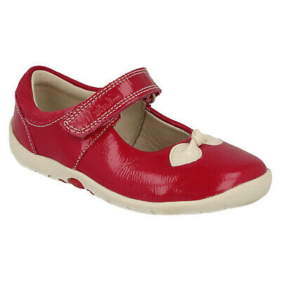 Girls Clarks Softly Bow Hook & Loop Infant Mary Jane First Casual Shoes Size
